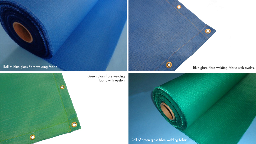 Blue and Green Welding Fabrics